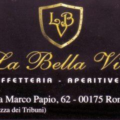 La Bella Vita caffetteria aperitiveria Via Marco Papio,62 00175 roma