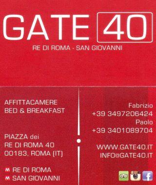 Gate 40 - Bed & Breakfast