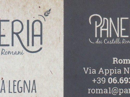 PANERIA dei castelli romani, Via Appia Nuova,105 00182