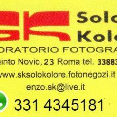 SK Solo Colore laboratorio fotografico Via Quinto Novio,23 00175-RM