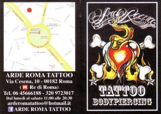 Arde Roma Tattoo bodypiercing
