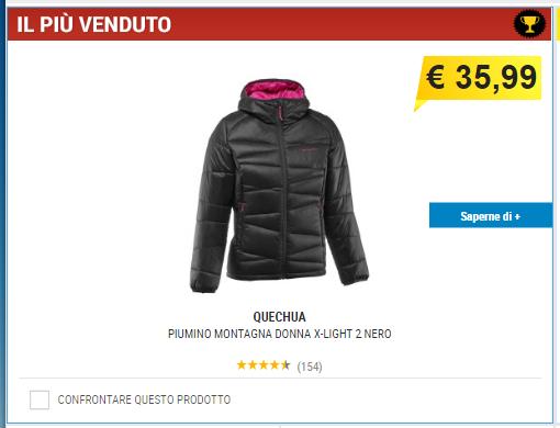 big sale 7ce45 fbd51 decathlon NATALE selezione giacche Piumino donna e non solo……