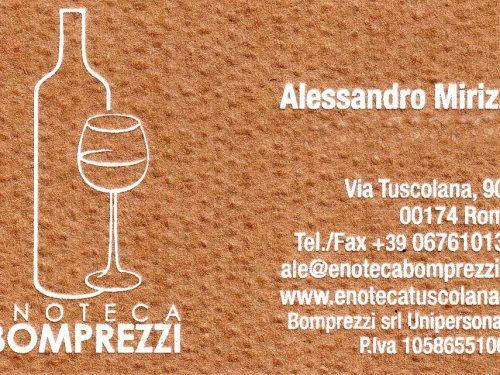 ENOTECA BOMPREZZI VIA TUSCOLANA 904 00174 ROMA ITALY 0039 06 7610135