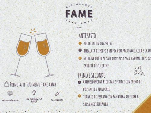 Ristorante Fame ROMA 00182 ITALY 06 69304092