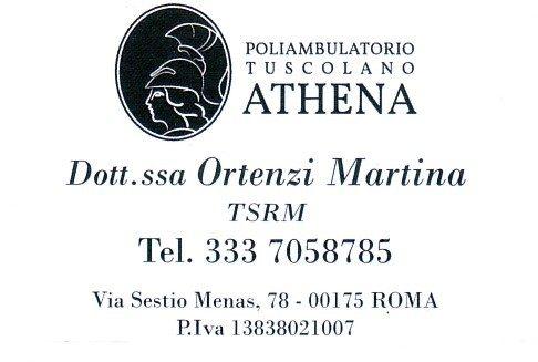 POLIAMBULATORIO ANALISI TUSCOLANO ATHENA Dott.ssa Ortenzi Martina 333 7058785