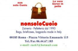NonsoloCuoio Piazza Vittorio Emanuele,115 – 00185 – Roma – Made in Italy