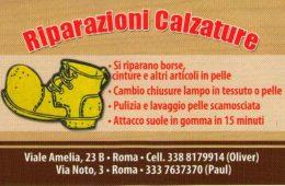 IL Calzolaio Riparazioni Calzature  Viale Amelia,23 & Via Noto,3   Roma