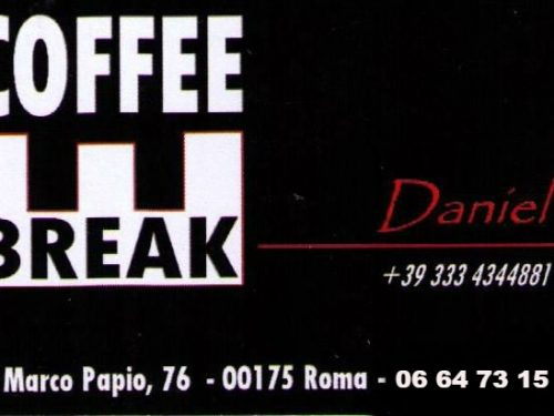 Bar COFFEE BREAK Daniel via Marco Papio,76 00175 Roma
