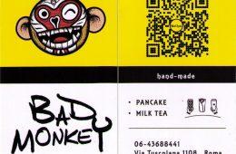 BAD MONKEY PANCAKE MILK TEA VIA TUSCOLANA 1108 . ROMA 00174