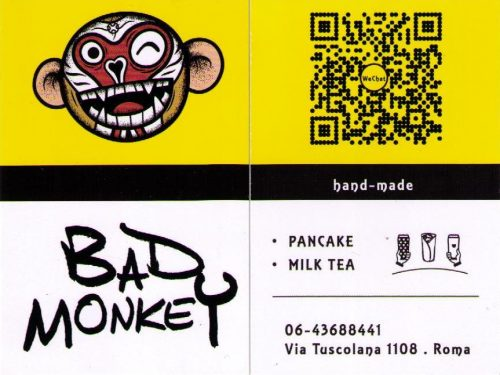 BAD MONKEY PANCAKE MILK TEA VIA TUSCOLANA 1108 . ROMA 00174